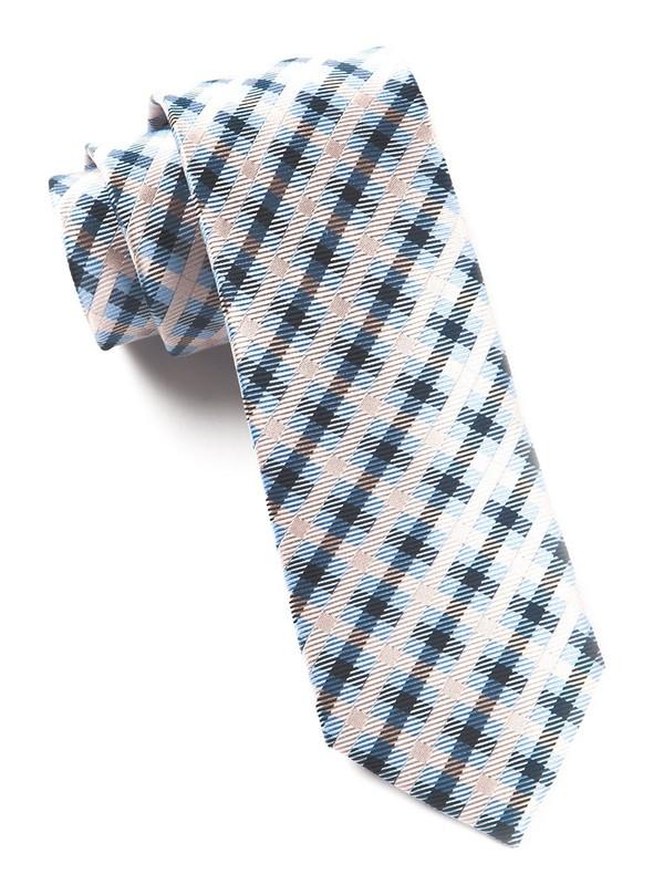 Power Checks Blush Pink Tie