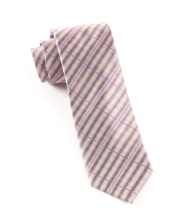Parker Plaid Wisteria Tie