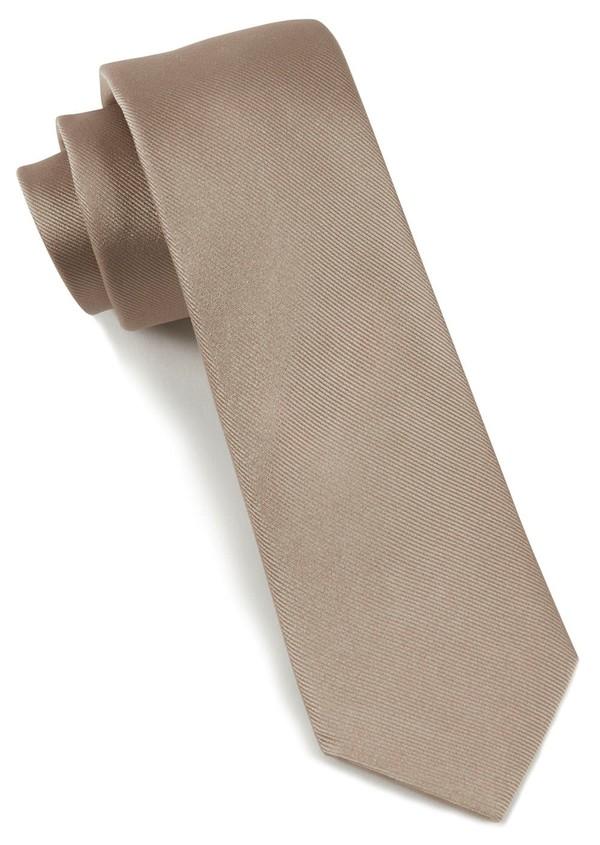 Grosgrain Solid Champagne Tie