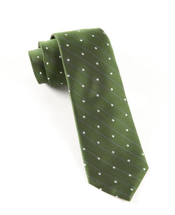 Ringside Dots Clover Green Tie