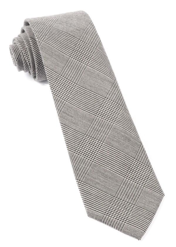 Cotton Glen Plaid Black Tie
