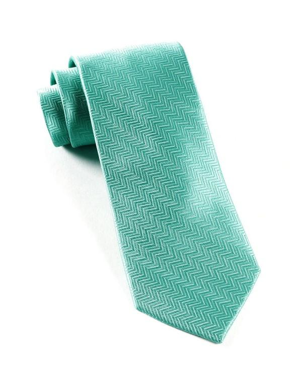 Herringbone Aqua Tie