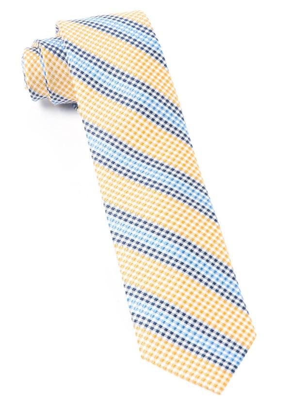 Gingham Stripes Yellow Tie