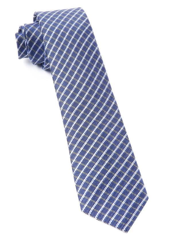 Textured Checks Purple Tie