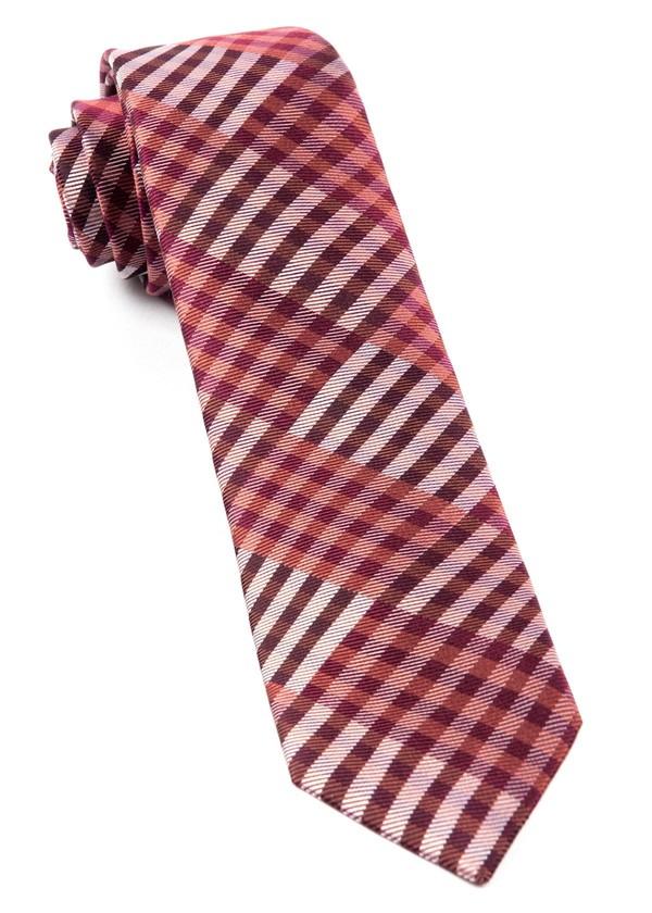 E Check Raspberry Tie