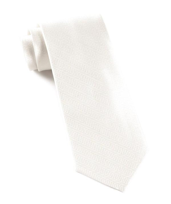 Herringbone Cream Tie