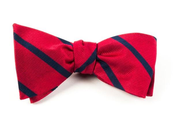 Trad Stripe Classic Red Bow Tie