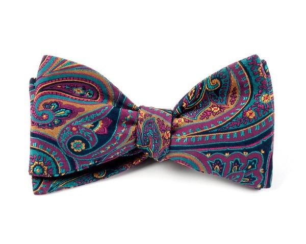 Empire Paisley Fuchsia Bow Tie