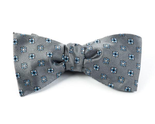 Juneberry Grey Bow Tie
