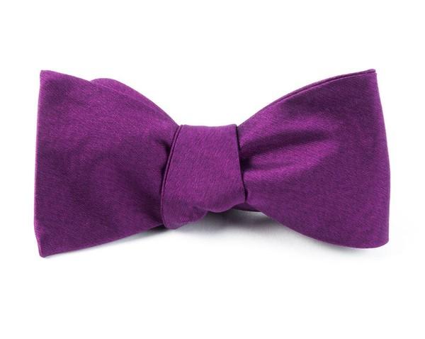 Melange Twist Solid Azalea Bow Tie