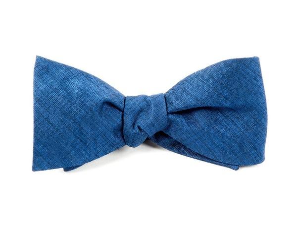 Debonair Solid Royal Blue Bow Tie