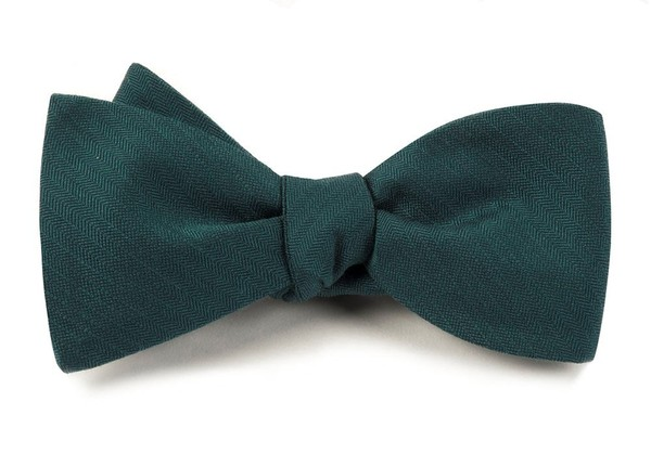 Astute Solid Green Teal Bow Tie