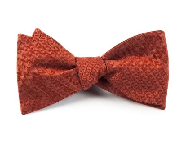 Astute Solid Orange Bow Tie