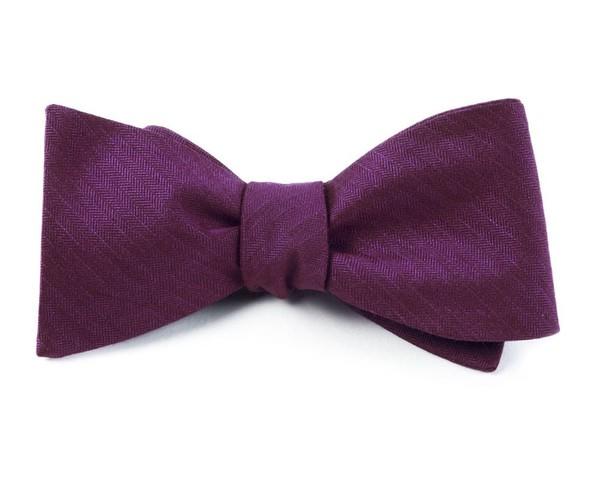 Astute Solid Plum Bow Tie