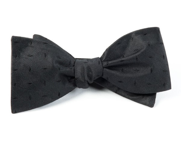 Industry Solid Black Bow Tie
