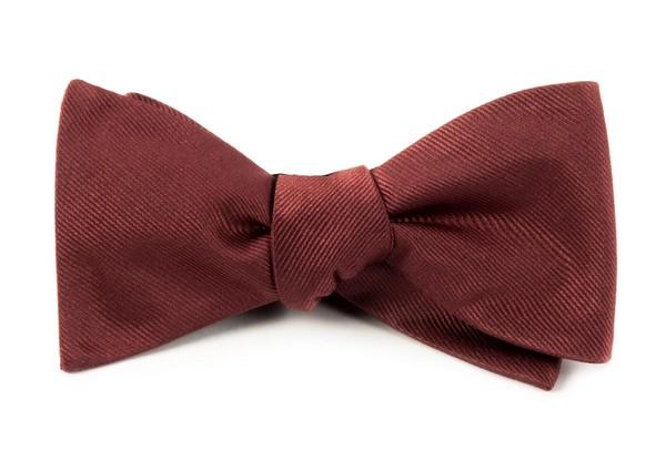 Grosgrain Solid Marsala Bow Tie