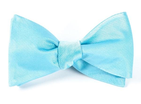 Grosgrain Solid Aquamarine Bow Tie