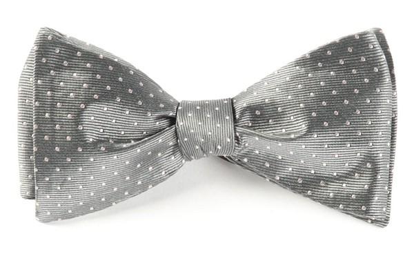 Mini Dots Grey Bow Tie
