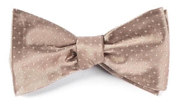 Mini Dots Champagne Bow Tie