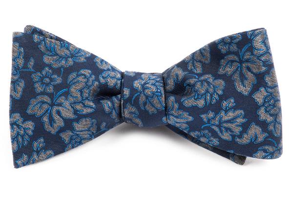 Intellect Floral Navy Bow Tie