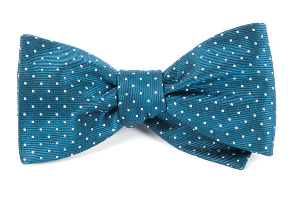 Mini Dots Teal Bow Tie