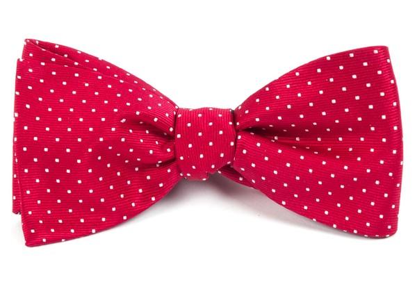 Mini Dots Red Bow Tie