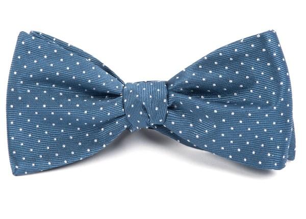 Mini Dots Whale Blue Bow Tie