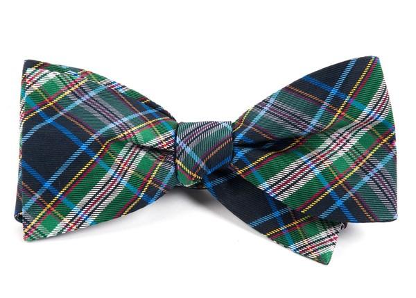 Paramount Plaid Black Bow Tie