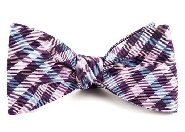 Polo Plaid Plum Bow Tie