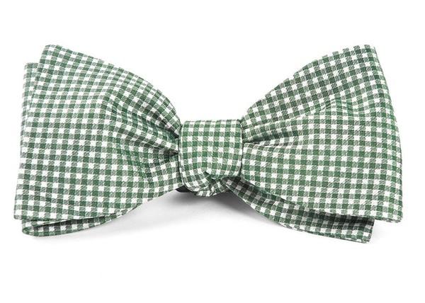 Bahama Checks Hunter Green Bow Tie
