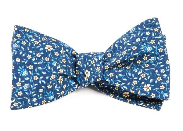 Peninsula Floral Navy Bow Tie