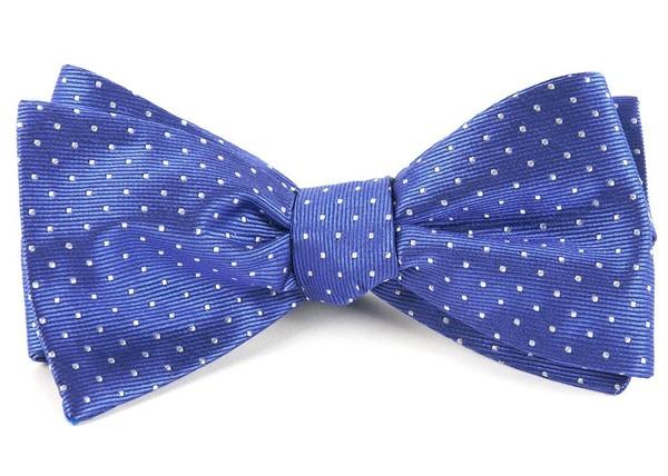 Mini Dots Periwinkle Bow Tie