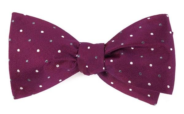 Jpl Dots Deep Azalea Bow Tie