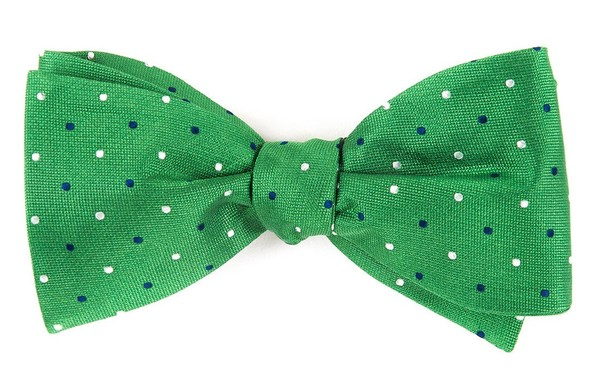 Jpl Dots Clover Green Bow Tie