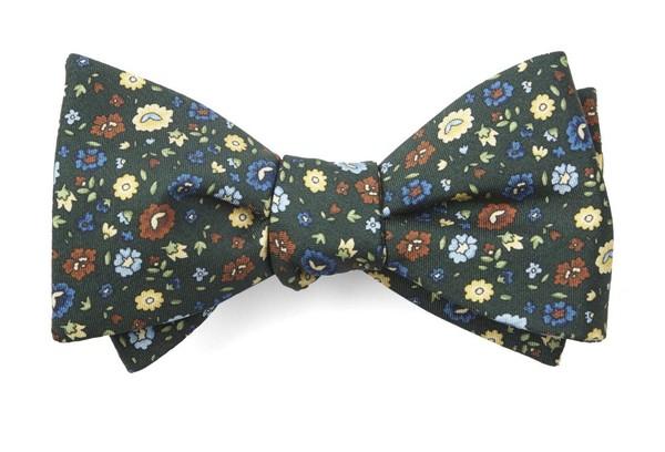 Morrissey Flowers Hunter Green Bow Tie