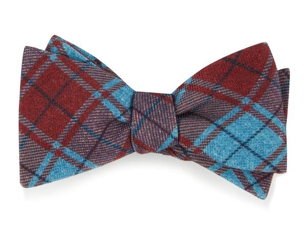 Merchants Row Plaid Red Bow Tie