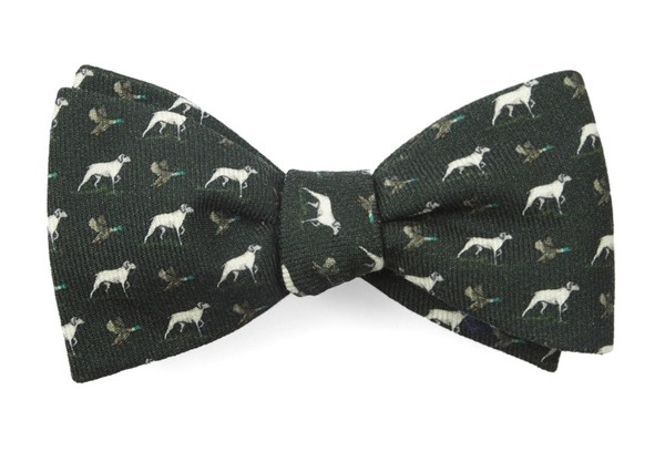Boldrewood Chase Dark Olive Green Bow Tie