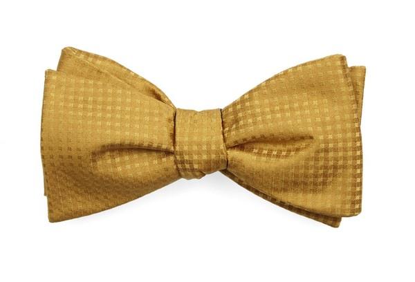 Check Mates Mustard Bow Tie
