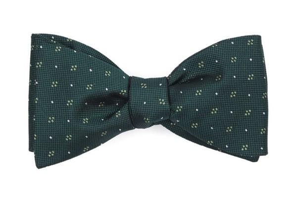 Geo Key Hunter Green Bow Tie