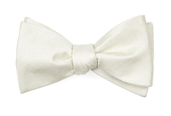 Mini Dots Ivory Bow Tie