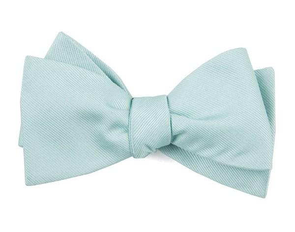 Grosgrain Solid Spearmint Bow Tie