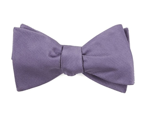 Grosgrain Solid Lavender Bow Tie