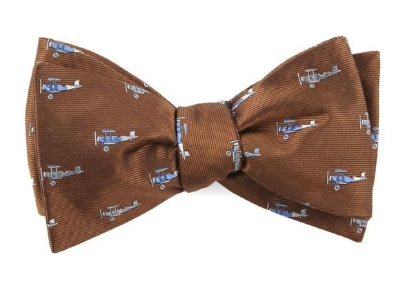 Airplane Fleet Bronze Bow Tie