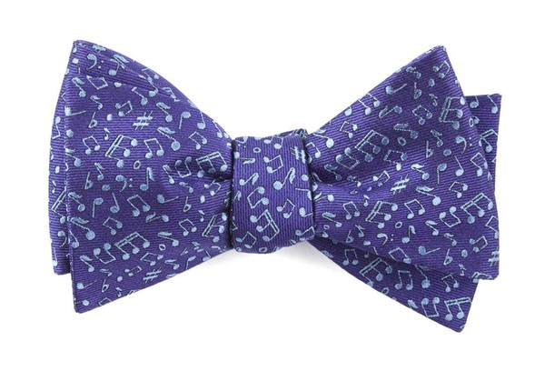 Music Notes Purple Bow Tie