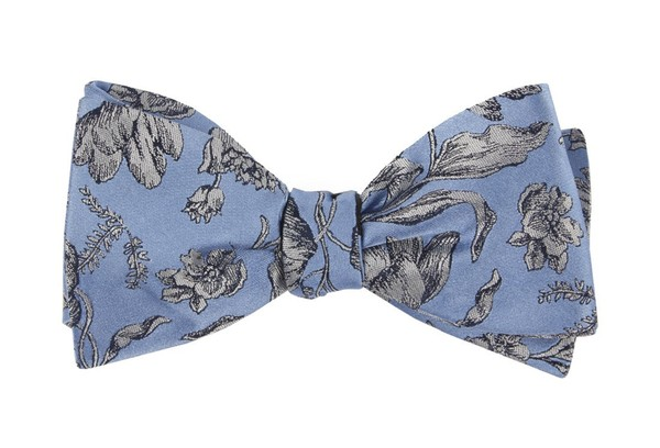 Floral Swell Light Blue Bow Tie