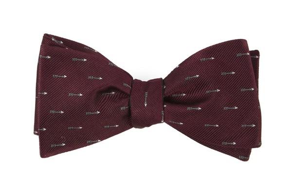 Arrow Zone Burgundy Bow Tie