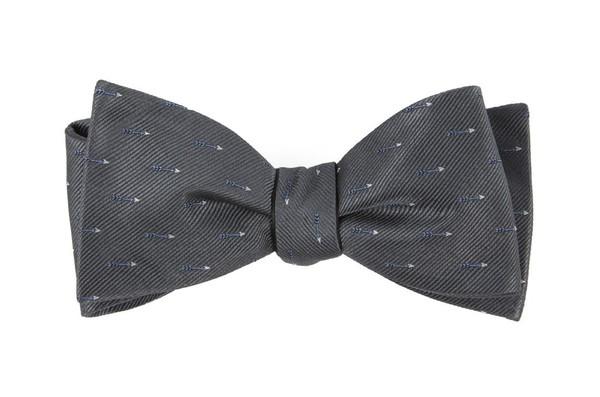 Arrow Zone Grey Bow Tie