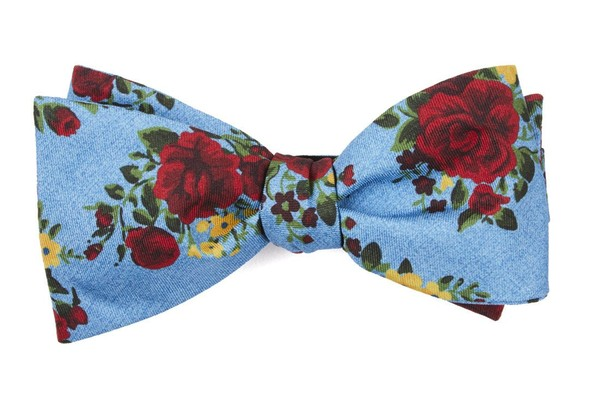 Hinterland Floral Sky Blue Bow Tie