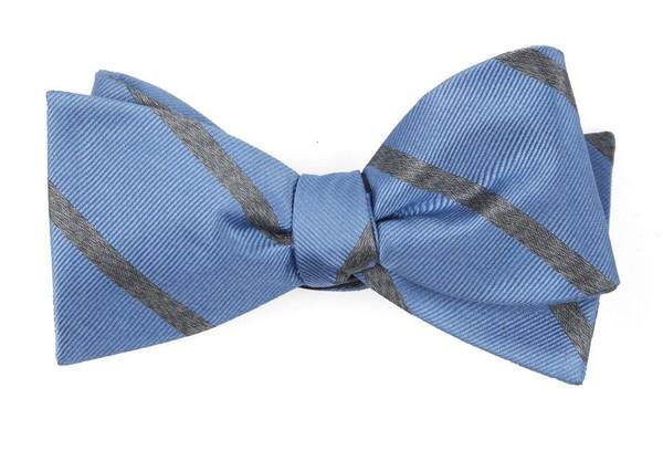 Wheelhouse Stripe Light Blue Bow Tie