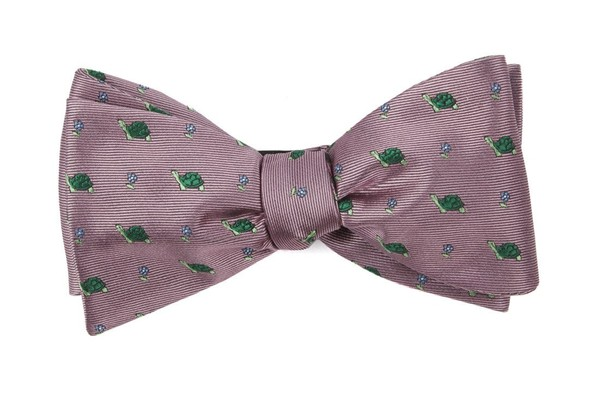 Turtle Island Pink Bow Tie